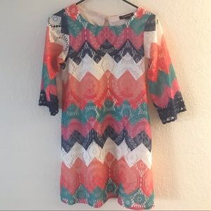 Chevron pattern dress